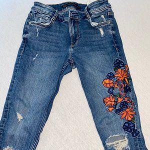 ZARA Trafaluc Floral Denimwear Jeans-2
